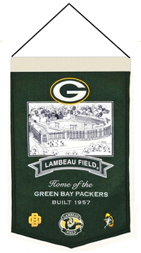 Lambeau Field  Stadium Wool Banner