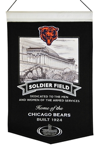 Soldier Field Stadium Wool Banner