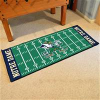 "Notre Dame Fighting Irish Football Field Runner Mat 30""x72"""