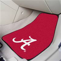 "Alabama Crimson Tide 2-piece Carpeted Car Mats 18""x27"", Red"