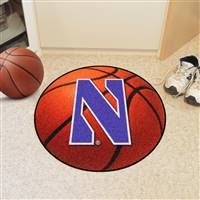 "Northwestern Wildcats Basketball Rug 29"" diameter"
