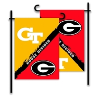 Georgia - Ga. Tech 2-Sided Garden Flag - Rivalry House Divided