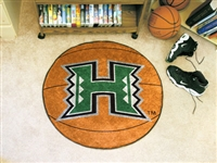 "Hawaii Warriors Basketball Rug 29"" diameter"