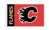 Calgary Flames 3 Ft. X 5 Ft. Flag W/Grommetts