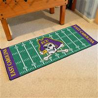 "East Carolina Pirates Football Field Runner Mat 30""x72"""