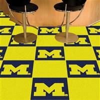"Michigan Wolverines Carpet Tiles 18""x18"" tiles, Covers 45 Sq. Ft."