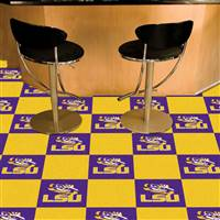 "Louisiana State LSU Tigers Carpet Tiles 18""x18"" tiles, Covers 45 Sq. Ft."
