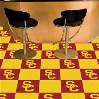 "Southern California (USC) Trojans Carpet Tiles 18""x18"" tiles, Covers 45 Sq. Ft."