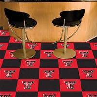 "Texas Tech Red Raiders Carpet Tiles 18""x18"" tiles, Covers 45 Sq. Ft."