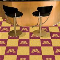 "Minnesota Golden Gophers Carpet Tiles 18""x18"" tiles, Covers 45 Sq. Ft."