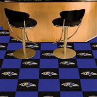 "Baltimore Ravens Carpet Tiles 18""x18"" Tiles, Covers 45 Sq. Ft."