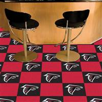 "Atlanta Falcons Carpet Tiles 18""x18"" Tiles, Covers 45 Sq. Ft."