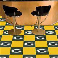 "Green Bay Packers Carpet Tiles 18""x18"" Tiles, Covers 45 Sq. Ft."