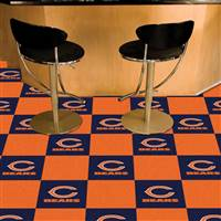 "Chicago Bears Carpet Tiles 18""x18"" Tiles, Covers 45 Sq. Ft."
