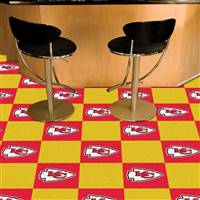 "Kansas City Chiefs Carpet Tiles 18""x18"" Tiles, Covers 45 Sq. Ft."