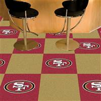 "San Francisco 49ers Carpet Tiles 18""x18"" Tiles, Covers 45 Sq. Ft."