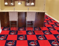 "Cleveland Indians Carpet Tiles 18""x18"" Tiles, Covers 45 Sq. Ft."