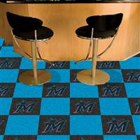 "Miami Marlins Carpet Tiles 18""x18"" Tiles, Covers 45 Sq. Ft."