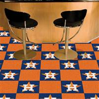 "Houston Astros Carpet Tiles 18""x18"" Tiles, Covers 45 Sq. Ft."
