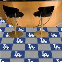 "Los Angeles Dodgers Carpet Tiles 18""x18"" Tiles, Covers 45 Sq. Ft."