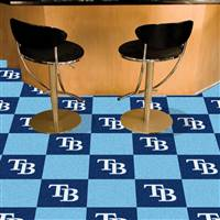 "Tampa Bay Rays Carpet Tiles 18""x18"" Tiles, Covers 45 Sq. Ft."