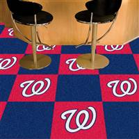 "Washington Nationals Carpet Tiles 18""x18"" Tiles, Covers 45 Sq. Ft."