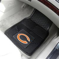 "Chicago Bears Heavy Duty 2-Piece Vinyl Car Mats 18""x27"""