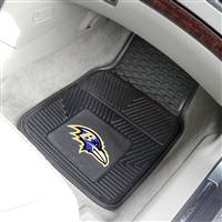 "Baltimore Ravens Heavy Duty 2-Piece Vinyl Car Mats 18""x27"""