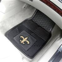 "New Orleans Saints Heavy Duty 2-Piece Vinyl Car Mats 18""x27"""