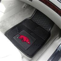 "Arkansas Razorbacks Heavy Duty 2-Piece Vinyl Car Mats 18""x27"""