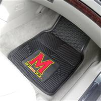 "Maryland Terrapins Heavy Duty 2-Piece Vinyl Car Mats 18""x27"""