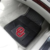"Oklahoma Sooners Heavy Duty 2-Piece Vinyl Car Mats 18""x27"""