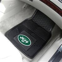 "New York Jets Heavy Duty 2-Piece Vinyl Car Mats 18""x27"""