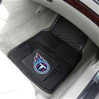 "Tennessee Titans Heavy Duty 2-Piece Vinyl Car Mats 18""x27"""