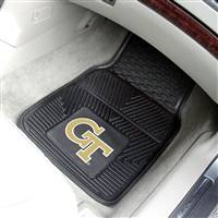 "Georgia Tech Yellow Jackets Heavy Duty 2-Piece Vinyl Car Mats 18""x27"""
