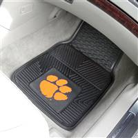"Clemson Tigers Heavy Duty 2-Piece Vinyl Car Mats 18""x27"""