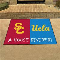 "USC - UCLA House Divided Rug 34""x45"""