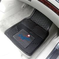 "Los Angeles Dodgers Heavy Duty 2-Piece Vinyl Car Mats 18""x27"""