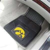 "Iowa Hawkeyes Heavy Duty 2-Piece Vinyl Car Mats 18""x27"""