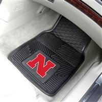 "Nebraska Cornhuskers Heavy Duty 2-Piece Vinyl Car Mats 18""x27"""