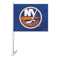 New York Islanders Car Flag W/Wall Brackett