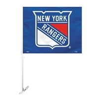 New York Rangers Car Flag W/Wall Brackett