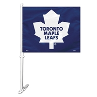 Toronto Maple Leafs Car Flag W/Wall Brackett