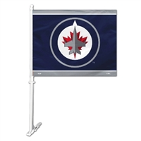 Winnipeg Jets Car Flag W/Wall Brackett