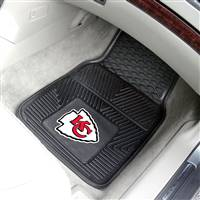 "Kansas City Chiefs Heavy Duty 2-Piece Vinyl Car Mats 18""x27"""