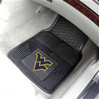 "West Virginia Mountaineers Heavy Duty 2-Piece Vinyl Car Mats 18""x27"""