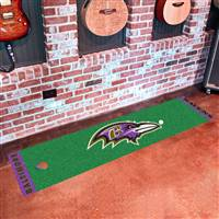 "Baltimore Ravens Putting Green Runner Mat 18""x72"""