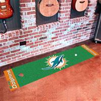 "Miami Dolphins Putting Green Runner Mat 18""x72"""