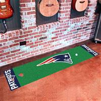 "New England Patriots Putting Green Runner Mat 18""x72"""