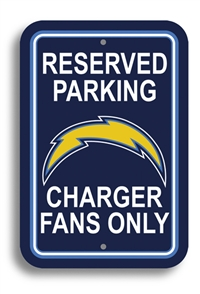 San Diego Chargers Plastic Parking Sign - Reserved Parking